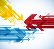 Abstract background with colorful arrows. Stock Images