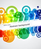 Abstract background. With colorful arrows and circles. EPS10 Stock Image