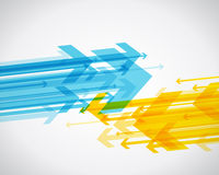 Abstract background with colorful arrows. Vector art Royalty Free Stock Photography