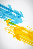 Abstract background with colorful arrows. Vector art Royalty Free Stock Image