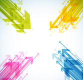 Abstract background with colorful arrows. Vector art Stock Photos