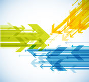 Abstract background with colorful arrows. Royalty Free Stock Image