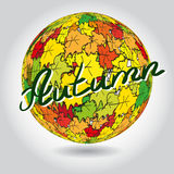 Abstract background of colorful autumn leaves Royalty Free Stock Images