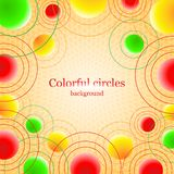 Abstract background with colorful balls Royalty Free Stock Image