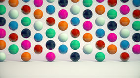 Abstract background with colorful balls and nice lighting. 3d rendering Royalty Free Stock Photos