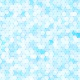 Abstract background with colorful hex polygons. Abstract background with colorful blue hex polygons Royalty Free Stock Images