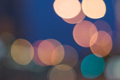 Abstract background of colorful blurred lights Royalty Free Stock Photography