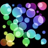 Abstract background - colorful bokeh Stock Image