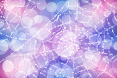 Abstract background colorful bokeh circles.  Stock Image