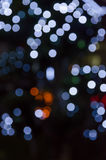 Abstract background colorful bokeh circles. Beautiful background with particles royalty free illustration