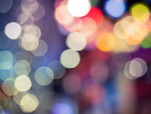 Abstract background with colorful bokeh defocused Royalty Free Stock Image