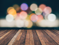 Abstract background with colorful bokeh defocused Royalty Free Stock Photo