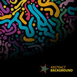 Abstract background of colorful brush strokes. On a dark background with space for text vector illustration