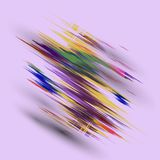 Abstract background with colorful brush strokes - vector eps10.  Vector Illustration