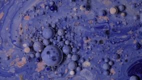 Abstract background of colorful bubbles. Chaotic movement. stock video footage