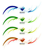 Abstract background colorful business wave lines Stock Photos