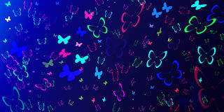 Abstract background. With colorful butterflies royalty free illustration