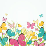 Abstract Background with Colorful Butterflies. Illustration of an Abstract Background with Colorful Butterflies royalty free illustration