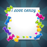 Abstract background with colorful candy stickers Royalty Free Stock Image