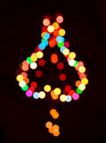 Abstract background colorful christmas light tree Stock Images