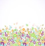 Abstract background with colorful circle. Vector Royalty Free Stock Images