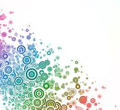Abstract background with colorful circle. Vector. Illustration stock illustration
