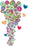 Abstract background with colorful circles. And hearts Stock Illustration