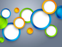 Abstract background with colorful circles. Bright illustration Royalty Free Stock Images
