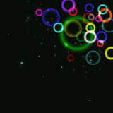 Abstract background with colorful circles and bubbles. Vector illustration Royalty Free Stock Photography