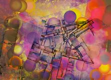 Geometric Abstract. Abstract background. Colorful circles and geometric figures Royalty Free Stock Photos