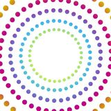 Abstract background with colorful circles hypnosis. Vector Royalty Free Stock Image