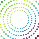 Abstract background with colorful circles hypnosis. Vector Stock Image