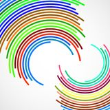 Abstract background of colorful circles. With lines, technology backdrop royalty free illustration