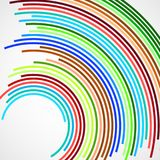 Abstract background of colorful circles with lines. Technology backdrop royalty free illustration