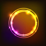 Abstract background with colorful circles neon. Stock vector Stock Photography