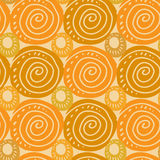 Abstract background with colorful circles. Abstract orange background with colorful circles Royalty Free Stock Photo