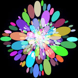 Abstract background with colorful circles. Raster 8. Raster royalty free illustration