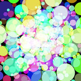 Abstract background with colorful circles. Raster 4. Raster royalty free illustration