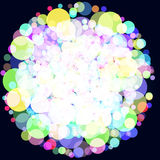 Abstract background with colorful circles. Raster 6. Raster Royalty Free Stock Images
