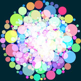 Abstract background with colorful circles. Raster 1. Raster royalty free illustration