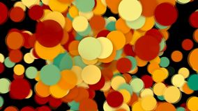 Abstract background with colorful circles. Seamless loop Royalty Free Stock Image