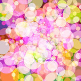 Abstract background with colorful circles. Vector. 5 Royalty Free Stock Photos