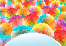 Abstract background with colorful circles. Vector illustration in vibrant colors Royalty Free Stock Image