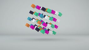 Abstract background with colorful cubes. 3d rendering stock illustration