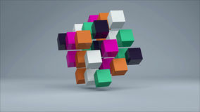 Abstract background with colorful cubes. 3d rendering royalty free illustration
