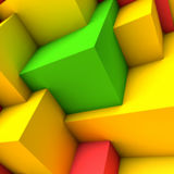 Abstract background with colorful cubes. Abstract background with overlapping colorful cubes Stock Photo