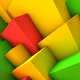 Abstract background with colorful cubes. Abstract background with overlapping colorful cubes Stock Photos