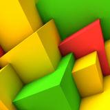 Abstract background with colorful cubes. Abstract background with overlapping colorful cubes Royalty Free Stock Photo