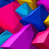 Abstract background with colorful cubes and triangular shadows for magazines, booklets or mobile phone lock screen. Abstract background with colorful cubes and vector illustration