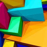 Abstract background with colorful cubes and triangular shadows for magazines, booklets or mobile phone lock screen. Abstract background with colorful cubes and Royalty Free Stock Photo